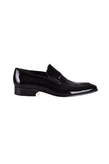 Fosco Klasik Erkek Ayakkabı SİYAH RUGAN resmi