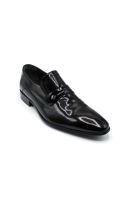Fosco Lazerli Klasik Erkek Ayakkabı SİYAH RUGAN