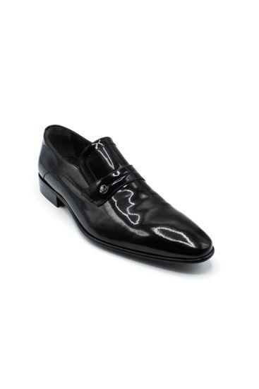 Fosco Lazerli Klasik Erkek Ayakkabı SİYAH RUGAN resmi