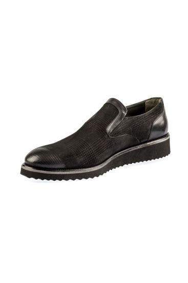 Fosco Mokasen Klasik Ayakkabı SİYAH NUBUK resmi