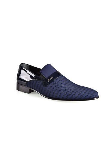 Fosco Nakışlı Klasik Erkek Ayakkabı LACİ STREÇ resmi