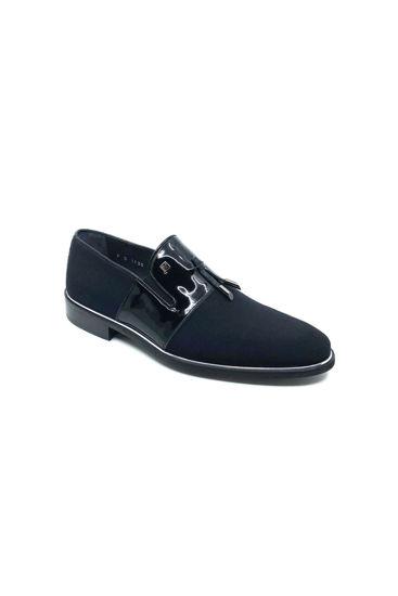 Fosco Ruganlı Klasik Corcik Ayakkabı SİYAH RUGAN STREÇ resmi
