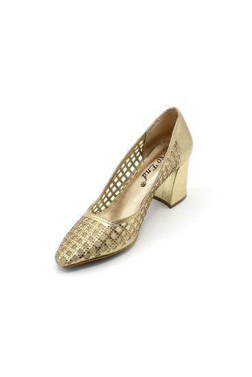 Selsan Noend Fileli Abiye Ayakkabı ALTIN resmi