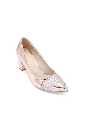 Selsan Almera Burnu Taşlı Klasik Kadın Ayakkabı BAKIR AYNA resmi
