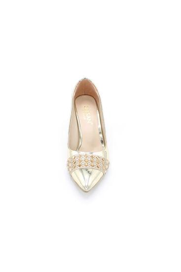 Selsan Almera Burnu Taşlı Klasik Kadın Ayakkabı DORE resmi