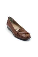 Selsan Dokulu Rahat Kadın Ayakkabı TABA