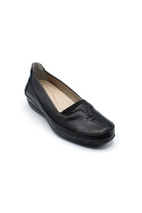 Selsan Edik Biyeli Rahat Kadın Ayakkabı SİYAH resmi