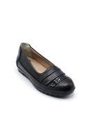 Selsan Edik Çizgili Rahat Ayakkabı SİYAH