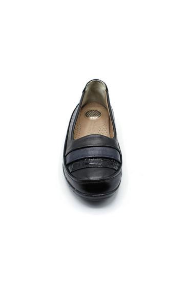 Selsan Edik Çizgili Rahat Ayakkabı SİYAH resmi