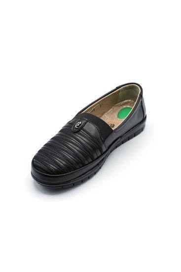 Selsan Edik Dalgalı Babet Rahat Ayakkabı SİYAH resmi