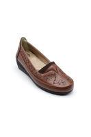 Selsan Edik Desenli Dolgulu Ayakkabı TABA
