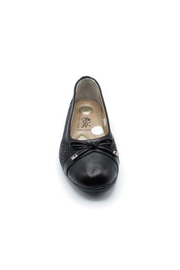 Selsan Edik Fiyonklu Rahat Ayakkabı SİYAH resmi