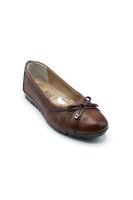 Selsan Edik Fiyonklu Rahat Ayakkabı TABA
