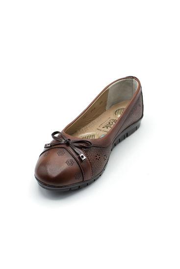 Selsan Edik Fiyonklu Rahat Ayakkabı TABA resmi