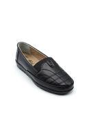 Selsan Edik Lastikli Desenli Rahat Ayakkabı SİYAH