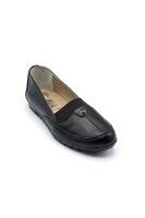 Selsan Edik Lastikli Rahat Kadın Ayakkabı SİYAH