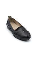 Selsan Edik Önü Çift Biyeli Rahat Kadın Ayakkabı SİYAH
