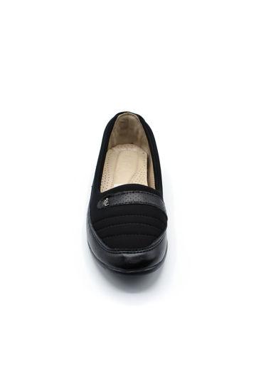 Selsan Edik Streç Rahat Ayakkabı SİYAH resmi