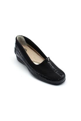 Selsan Edik Streçli Rahat Ayakkabı SİYAH resmi