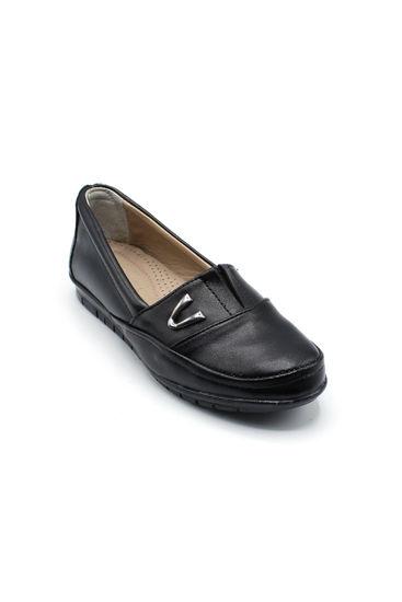 Selsan Edik Tokalı Rahat Ayakkabı SİYAH resmi