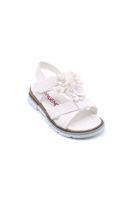 Selsan Ortası Çiçekli Sandalet BEYAZ