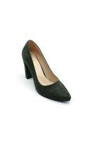 Selsan Almera Kalın Topuk Stiletto Kadın Ayakkabı HAKI