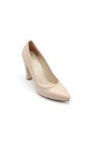 Selsan Almera Kalın Topuk Stiletto Kadın Ayakkabı TEN MAT