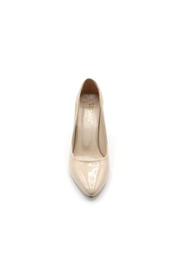 Selsan Almera Kalın Topuk Stiletto Kadın Ayakkabı TEN RUGAN resmi