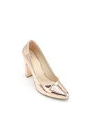 Selsan Almera Kalın Topuk Stiletto Kadın Ayakkabı BAKIR AYNA
