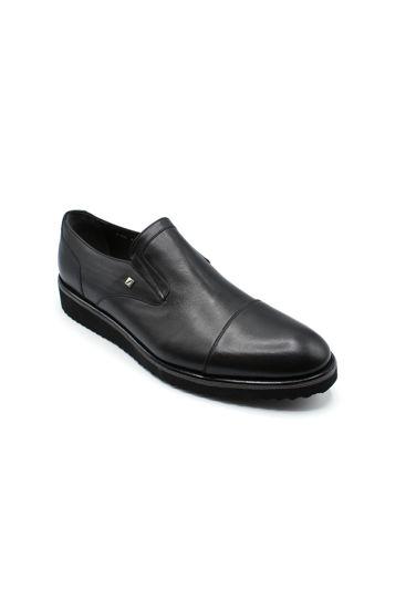 Fosco Klasik Erkek Ayakkabı Bağsız SİYAH MAT resmi