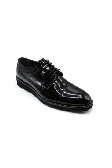 Fosco Bağlı Eva Klasik Erkek Ayakkabı SİYAH RUGAN resmi