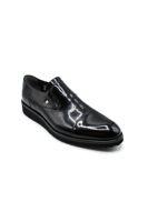 Fosco Klasik Erkek Ayakkabı Bağsız SİYAH RUGAN