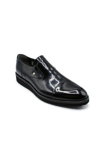 Fosco Klasik Erkek Ayakkabı Bağsız SİYAH RUGAN resmi