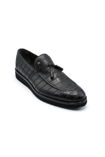 Fosko Püsküllü Corcik Klasik Erkek Ayakkabı SİYAH resmi